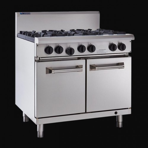 Luus Professional 6 Burner Cooktop & Oven - With Flame Failure & Pilot