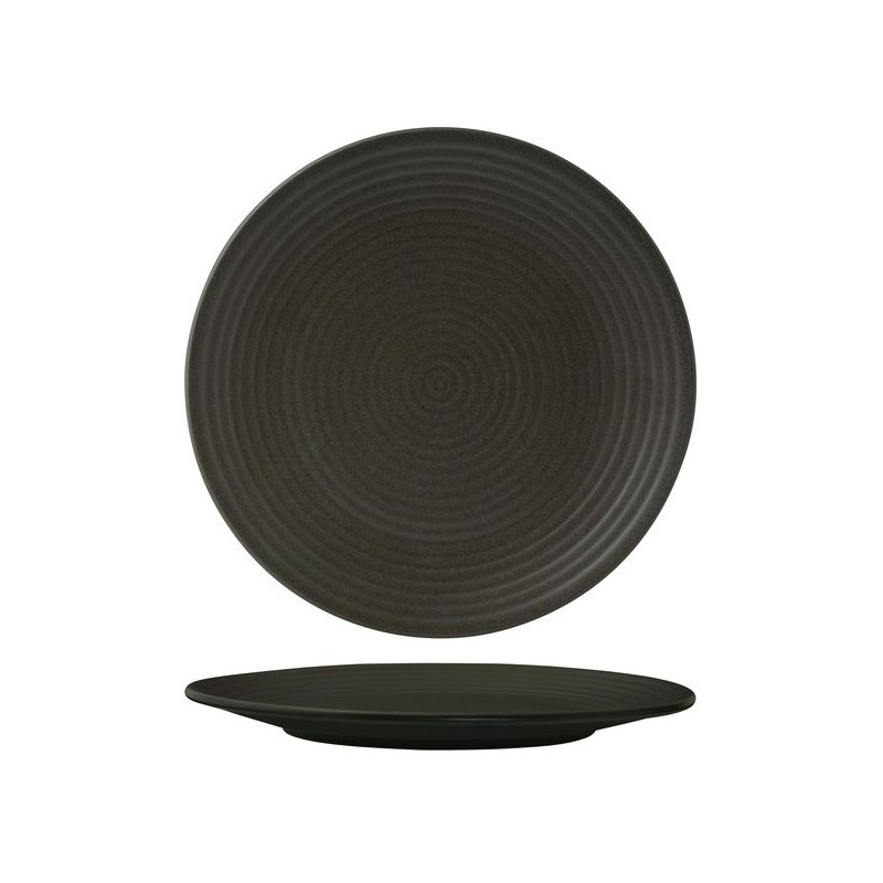 Zuma Coupe Plate Ribbed  - Charcoal