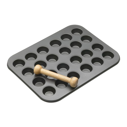 Mini Tart Pan 24 Cup with Pastry Tamper - 35x27cm