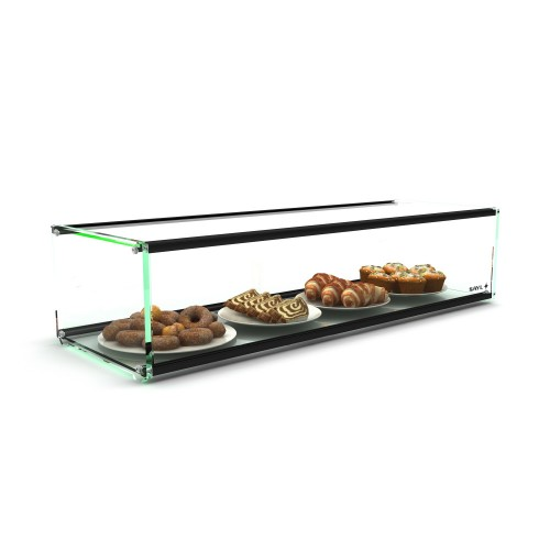 Sayl Ambient Glass Display Single Tier 920x300x200mm