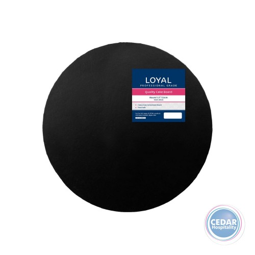 Loyal Round Cake Board Black PK/6 - 4 Sizes