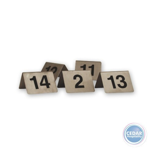 "TABLE NUMBERS S/S  ""A"" FRAME - 1-100"