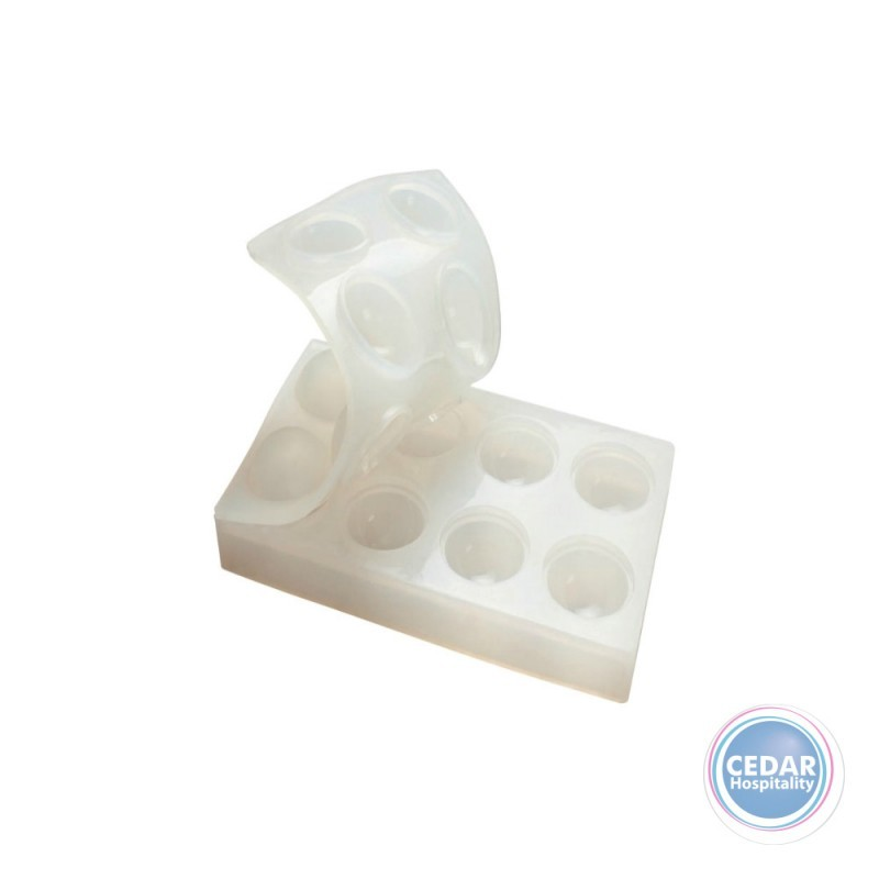 PAVONI - PAVAFLEX SPHERE SILICONE MOULDS - 8 INDENT