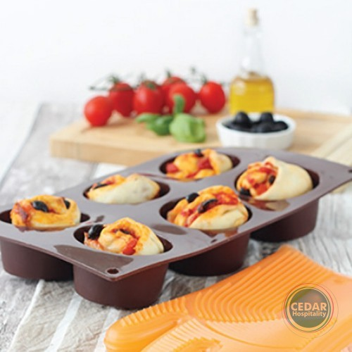 PAVONI FORMAFLEX MUFFIN MOULD - 6 INDENT