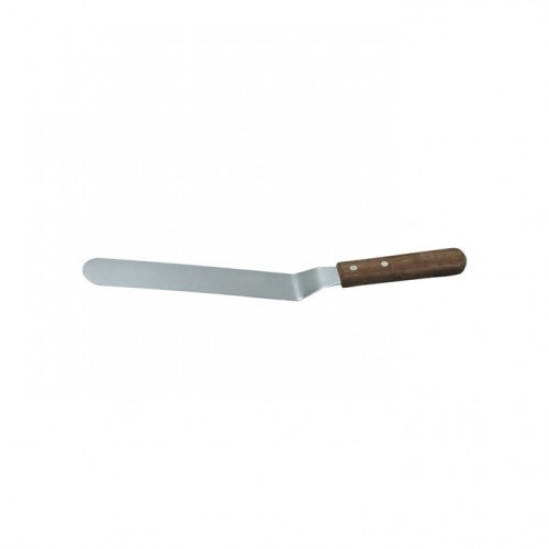 Spatula Wood Handle - stainless Steel Cranked