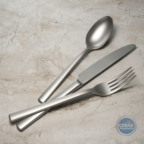 CHATSWORTH DESSERT SPOON  -  MATT FINISH