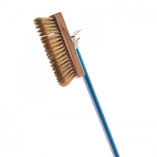 Gi Metal Brush Brass Bristles With Aluminium Handle