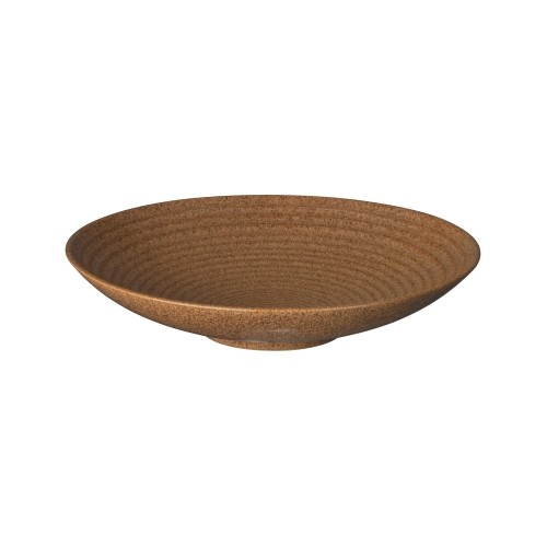 Denby Studio Craft Chestnut Ridged Bowl