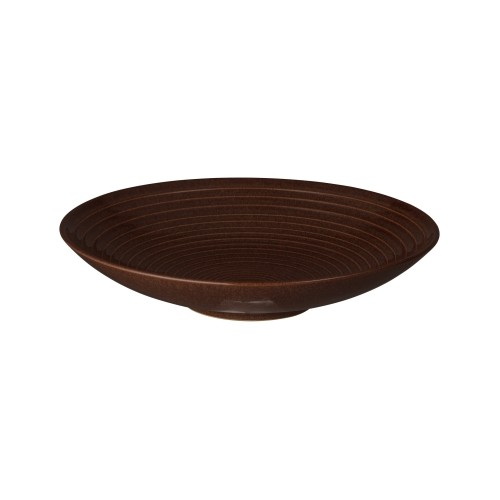 Denby Studio Craft Walnut Ridged Bowl