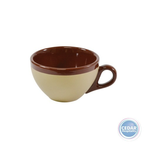 Brew Cappuccino Cup 220ml -  Matt/Gloss Harvest Brown