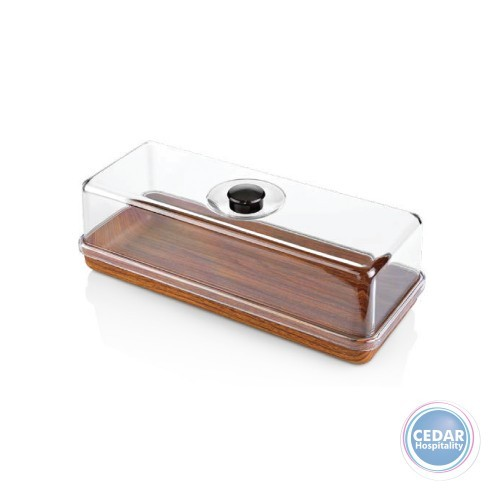 Evelin Rectangle Cake Serving Tray With Cover