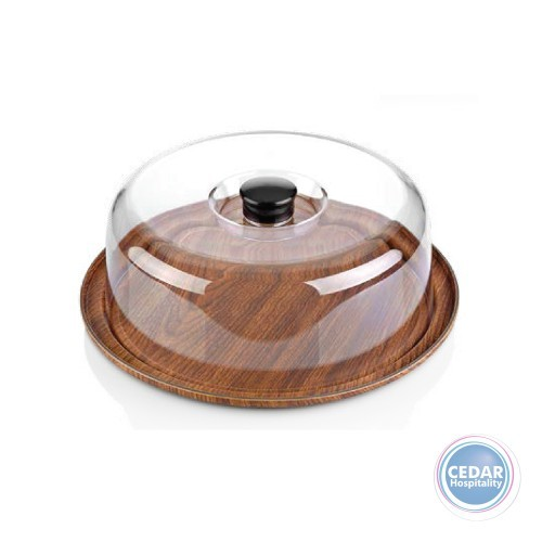 Evelin Round Cake Serving Tray With Cover