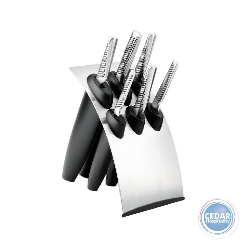 Global 7pce Millenium Knife Block Set S/S
