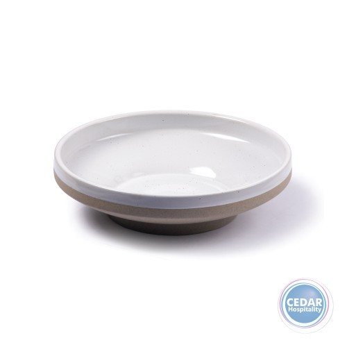 Tablekraft Soho Round Bowl Footed White Pebble - 2 Sizes
