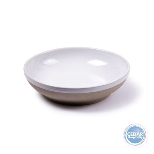 Tablekraft Soho Round Bowl Flared White Pebble - 230 x 55mm