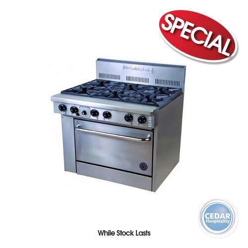 Goldstein 6 Burner Range with Oven with Flame Failure 914x800x1120