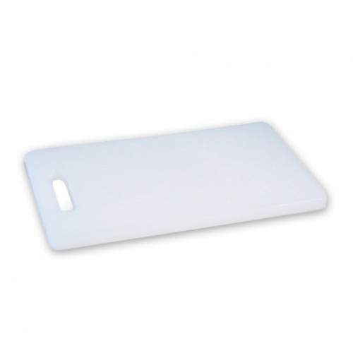 Polypropylene Cutting Boards White with Handle  200 x 270 x 13mm