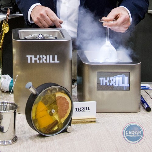 "Thrill Vortex Cube Stainless with 5"" LCD Screen"