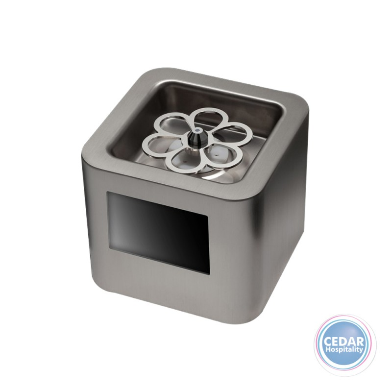 """Thrill Vortex Cube Stainless with 5"""" LCD Screen"""