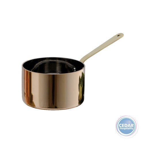 Chef Inox Miniatures Saucepan Copper With Brass Handle - 5 Sizes