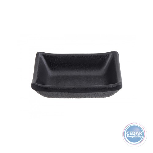 Steelite Black Melamine Rectangle Dish 9.2cm x 7cm