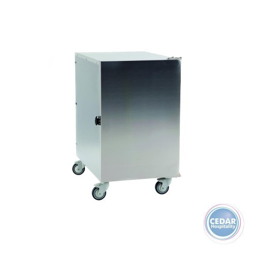 Mobile Cabinet To Store 60x40cm Dough Boxes S/S - 64x50x76cm
