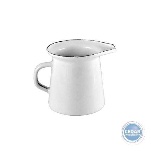 Urban Style Enamelware Mini Milk Jug White 125ml