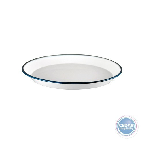 Urban Style Enamelware Share Plate 30cm x 2.85cm White