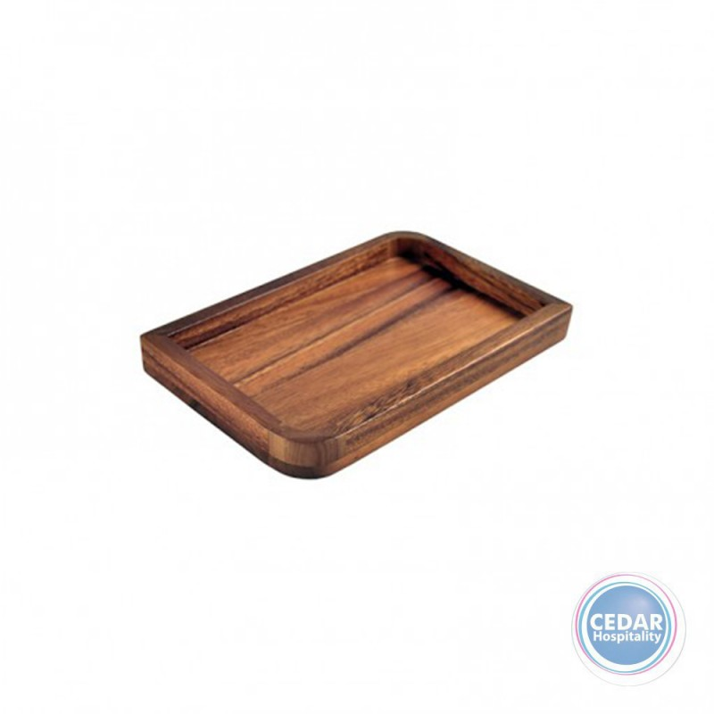 Acacia Rectangle Plate With Rim 15.2x22.9x3.1CM