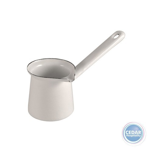 Urban Style Enamelware Turkish Pot 3cm Dia White