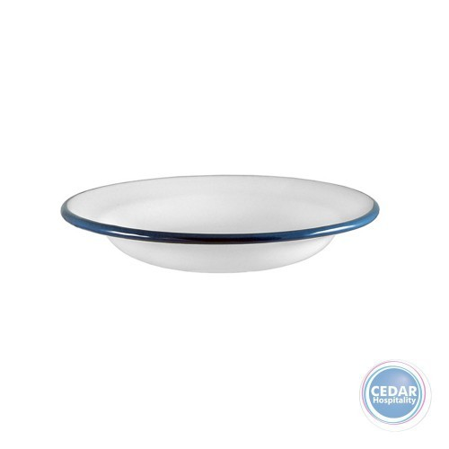 Urban Style Enamelware Risotto Plate 24cm x 4.1cm White