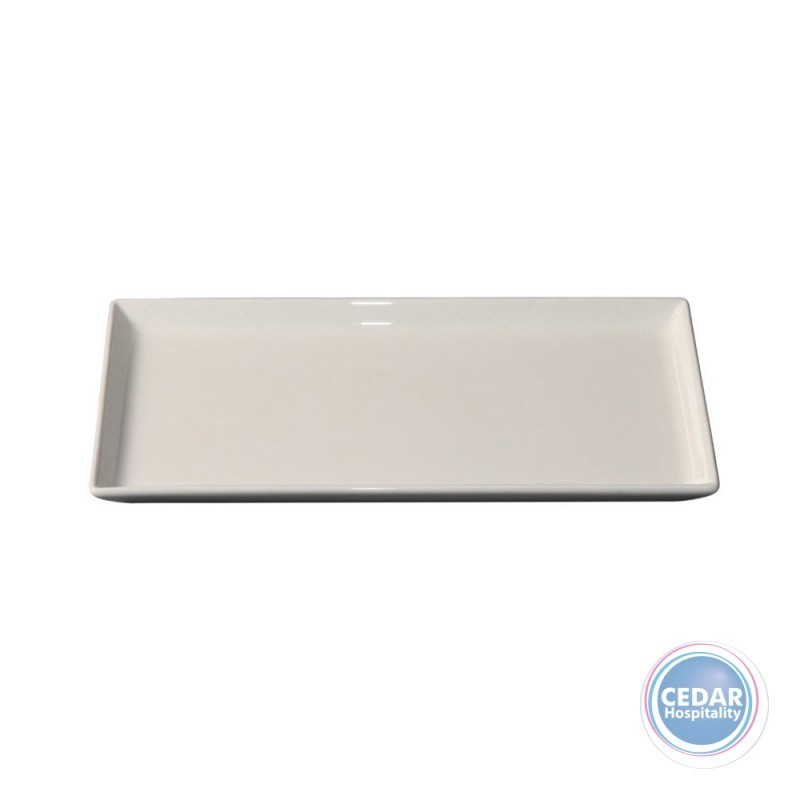 Royal Porcelain White Album Rectangular Platter Flared Sides