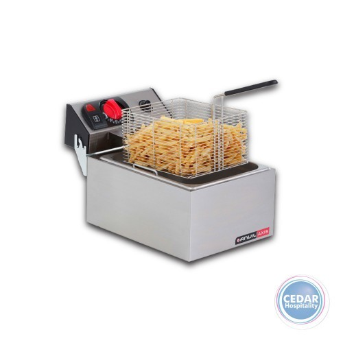 Anvil Sngle Pan Fryer 5lt with Removable S/S Tank & Night Lid