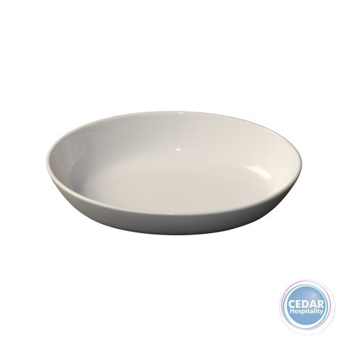 Royal Porcelain White Album Oval Plate Stackable - 2 Sizes