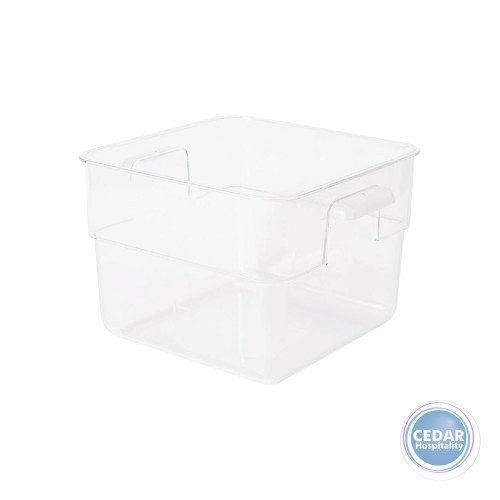 Clear Polycarb Square Storage Container - 6 Sizes Available
