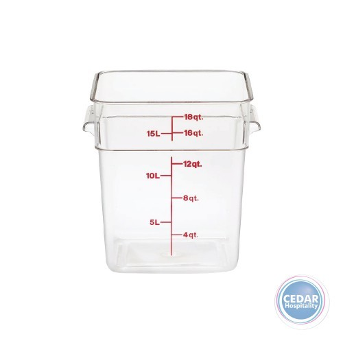 CamSquare Polycarbonate Food Container Clear - Sizes