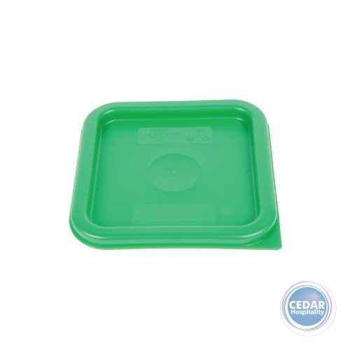 Colour Lids for CamSquare Polypropylene Food Container - 3 Sizes