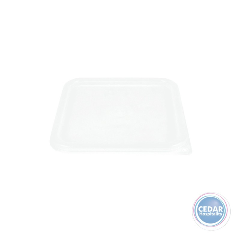 Clear Lids for CamSquare Polypropylene Food Container - 2 Sizes