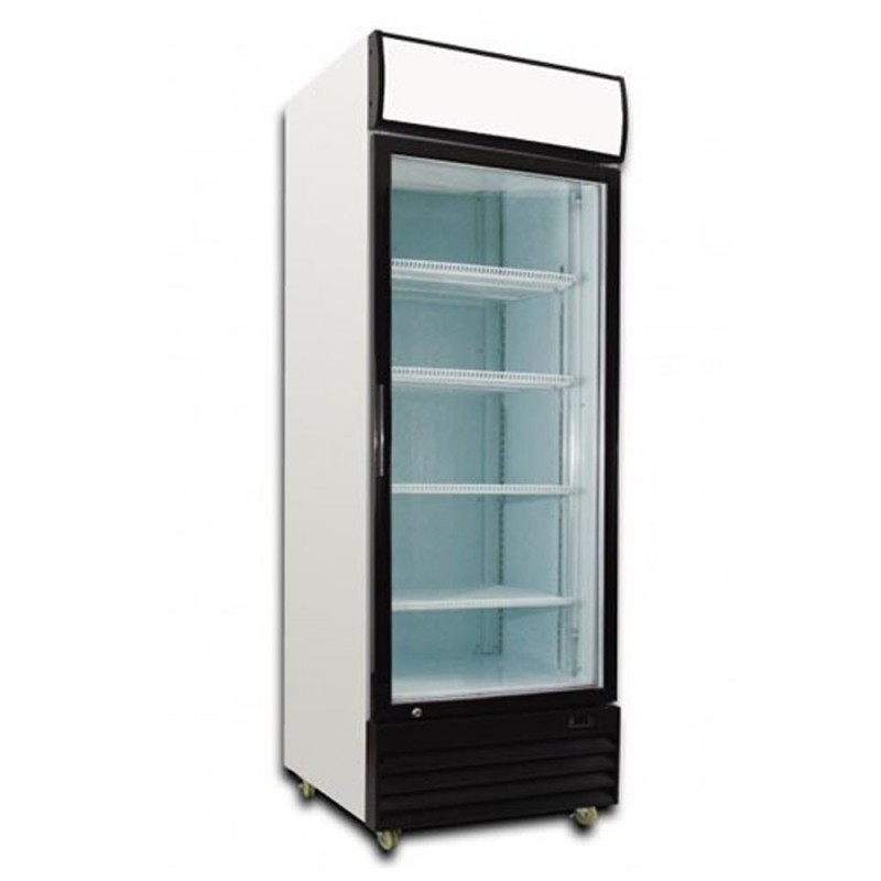Saltas Upright Single Door Display Refrigerator Cedar