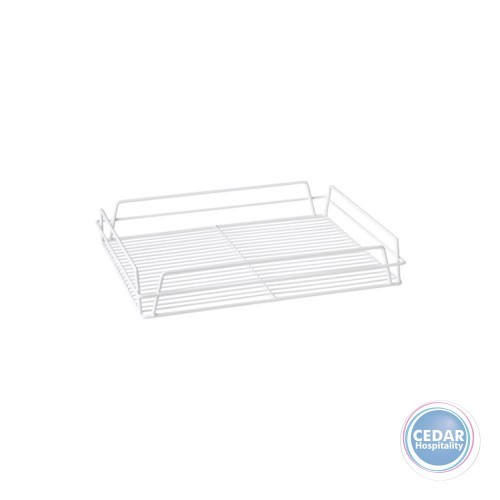 Glass Basket  / Pub Tray  -  White