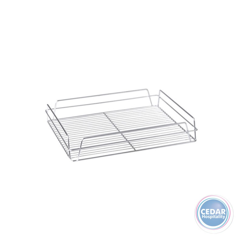 Pub Glass Tray / Basket  Chrome Plated 14