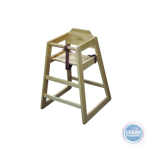 High Chair Natural Wood