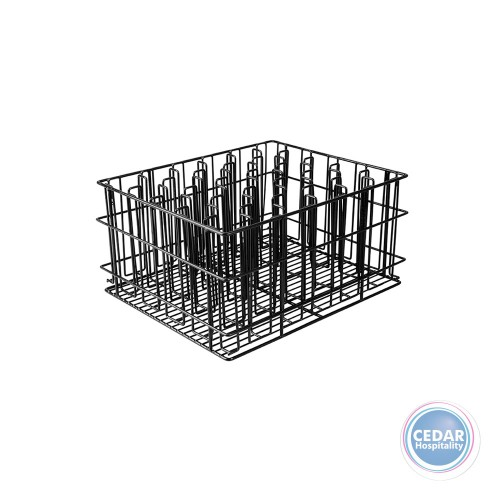 Glass Basket 30 Compartment - Black PVC