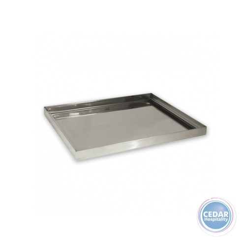 Drip Tray Square Stainless Steel - 360 x 360 x 25mm