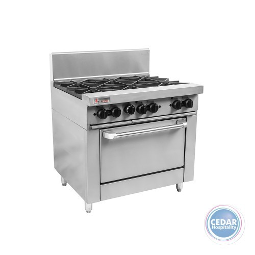 Trueheat 6 Open Top Burners with 900mm Oven *Nat Gas*