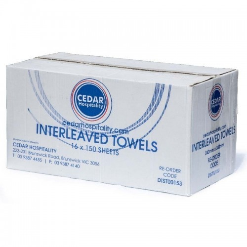 Interleaved Hand Towels 16PKS/CTN  - (1516CU)