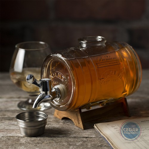 Kilner Glass Barrel Dispenser with Stand - 1 Ltr