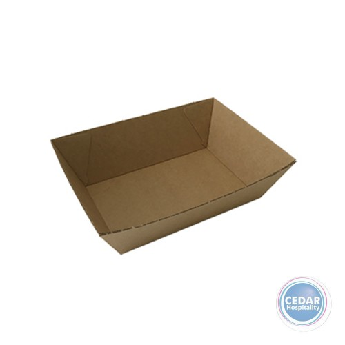 Take Away Food Tray Brown BetaBoard - 50 PCE