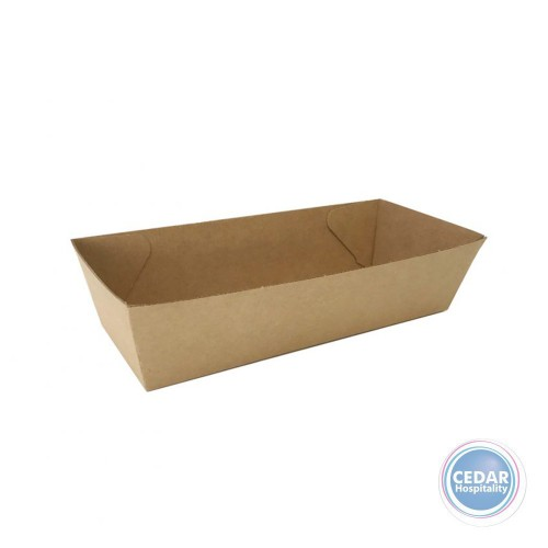 Open Hot Dog Trays Brown BetaBoard - 50 PCE