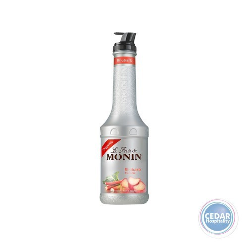 Monin Rhubarb Fruit Mix Puree w/Pourer - 1Ltr